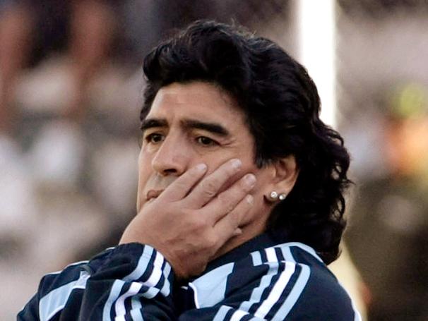 Diego Maradona, técnico da seleção Argentina